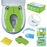 PITAYA Baby Toilet Reducer, Travel Foldable Child / Baby Toilet Seat, Easy to Carry Child WC Reducer (Green Frog)