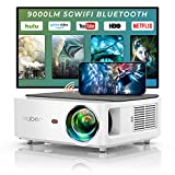 YABER 5G WiFi Bluetooth Projector 9000L Upgrade Full HD Native 1920×1080P Projector, 4P/4D Keystone Support 4k&Zoom, Portable Wireless LCD LED Home&Outdoor Video Projector for iOS/Android/PS4/PPT - Best Reviews Guide