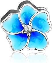 CKK DIY Flower Beads Fits Pandora Bracelet Authentic 925 Sterling Silver Jewelry Yellow Enamel Flower Charms for Women