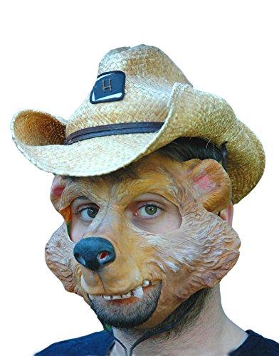 Bär Halbmaske aus Latex - Herbert Honigbär Partymaske
