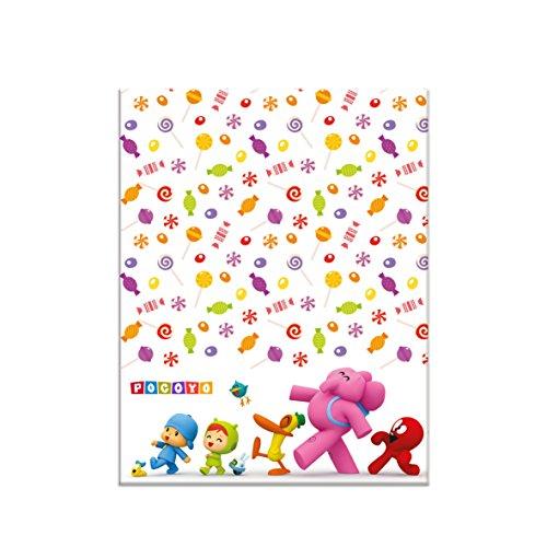 ALMACENESADAN 0548, Mantel de plástico Pocoyo y Nina para Fiestas y cumpleaños, Dimensiones 120x180cms