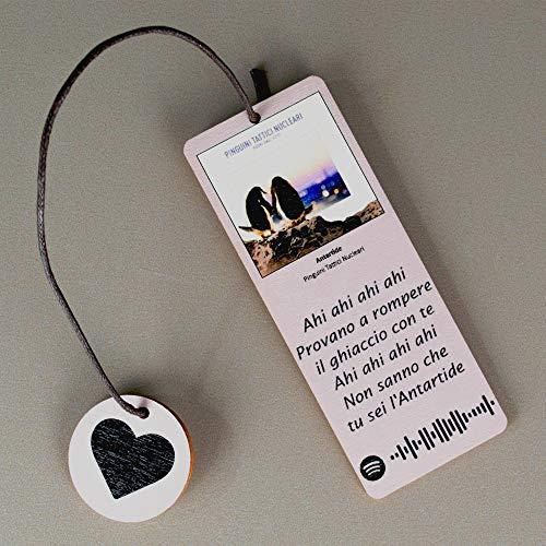 Segnalibri Personalizzabili In Legno Con Immagine, Testo e Tag Spotify Scannerizzabile