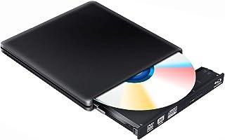 BLU Ray 4K Grabadora DVD Reproductor Externo, Portatil Unidad Externa BLU Ray DVD 3D, USB 3.0 Bluray DVD CD RW Player Comp...
