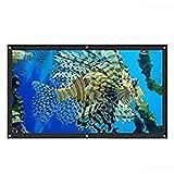 FYZBXTS Soft Foldable 16: 9 HD 84 100 120 Pulgadas Pantalla de proyector Cortina de Lona para proyector película de Cine en casa al Aire Libre (Size : 100 Inch)
