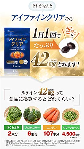 【機能性表示食品】日本薬師堂アイファインクリア60粒30日分ルテイン42mg配合