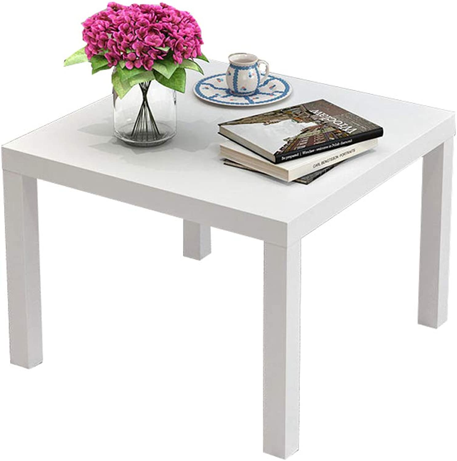 Coffee Table, White Nordic Square Table Modern Minimalist Living Room Tea Table Creative Furniture Tea Table Multifunctional Coffee Table (Size   40  37cm)