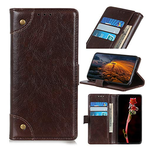 Phone Case Copper Buckle Nappa Texture Horizontal Flip Leather Case for Huawei P Smart+ 2019 / Honor 10i, with Holder & Card Slots & Wallet (Black) (Color : Coffee)