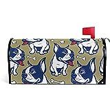 Bulldog francés Huesos Patrón Post Box Carta Cubierta Buzón Envoltura para Home Garden Yard Decor21 'X 18'