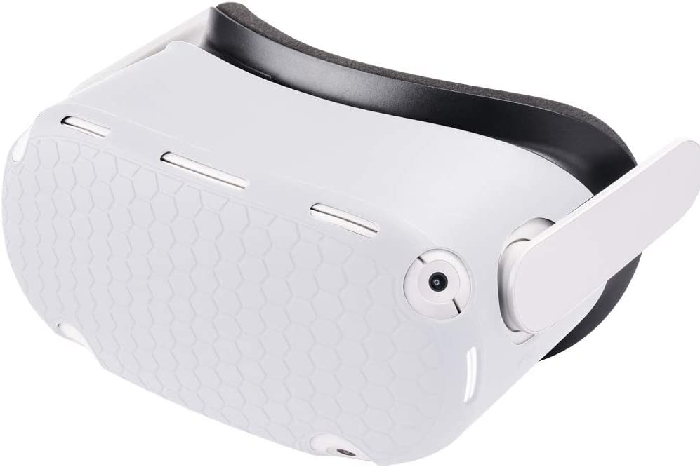Sinbomay-VR Shell Front Face Protector Cover Headset Protective Skin Accessories for Oculus Quest 2 Anti Scratch Dust Proof Anti-Shock(White)