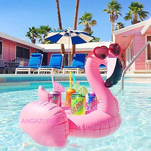 ANGAZURE Fenicottero Gigante Gonfiabile, Piscina Gonfiabile Fenicottero Giocattolo di Galleggiante Flamingo per Bambini e Adulti (B)