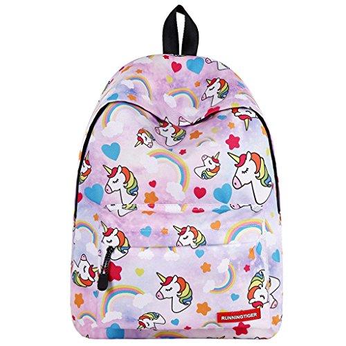 Mochila de Unicornio para niñas,Bolsos Escolares para niños Mochila para niños de Regreso a la Escuela Mochilas para Adultos Mochilas para niños al Aire Libre para niños