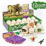 Touber Dinosaur Eggs Excavation, Dig a Dozen Dino Eggs Kit Dinosaur Eggs for 4-11 Year Olds Kids Easter Gifts for 5-12 Year Olds Boys Girls Easter Toys for Kids STEM Games for Kids 6-13 - Easter Eggs