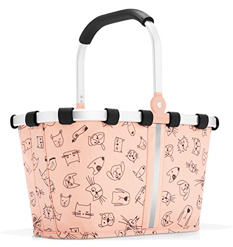 reisenthel carrybag XS kids Einkaufskorb 33,5 x 18 x 19,5 cm / 5 l / cats and dogs rose