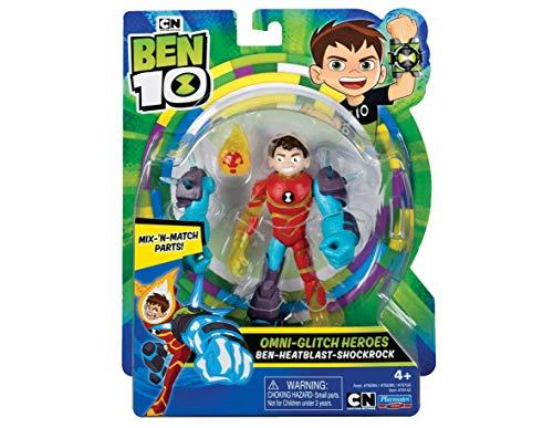Ben 10 BEN46520 - Action Figure-Heatblast Omni Glitch