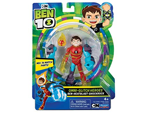 Ben 10 BEN46520 Figura de acción-Heatblast Omni Glitch