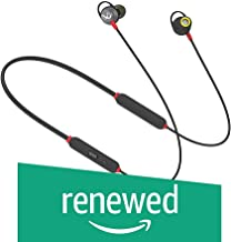 (Renewed) Infinity (JBL) Glide 120 Metal in-Ear Wireless Earphones, with Bluetooth 5.0 and IPX5 Sweatproof (Black and Red)