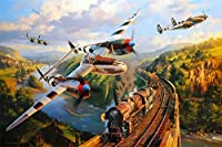 Jigsaw Puzzles for Adults Puzzles 1000 Piece - Planes and Trains for Children, Multi-Colour 75x50cm