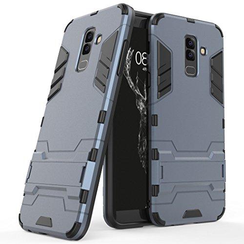 SCIMIN Capa para Samsung Galaxy A6 Plus (2018), Galaxy A6 Plus (2018), capa híbrida de camada dupla à prova de choque, capa rígida com suporte para Samsung Galaxy A6 Plus de 6 polegadas (2018)