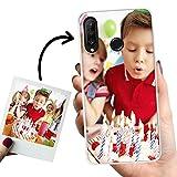 Phone Case Trends Funda Huawei P30 Lite Personalizada con tu Foto o Texto – Carcasa Móvil Personalizable de Gel Flexible - Funda Transparente, Antigolpes y de Silicona - Impresión Directa en Funda