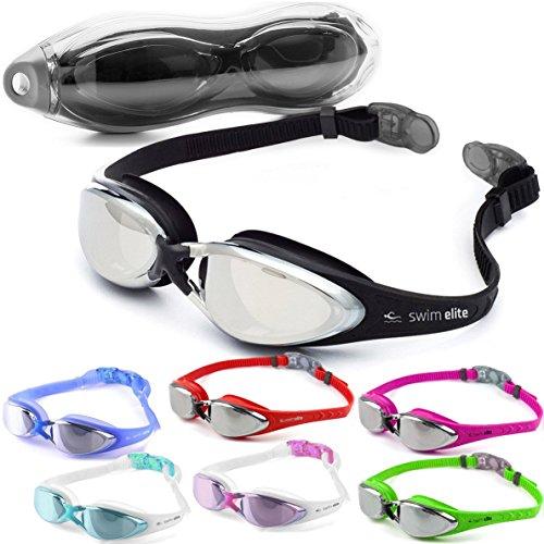 SWIM ELITE Marlin Schwimmbrillen Verspiegelt Mit UV Schutz - Beschlag Technologie, Klare Sicht, Wasserdicht - Für Erwachsene, Junioren Innen- und Außenbereich einschließlich (Turquoise/Mirror)