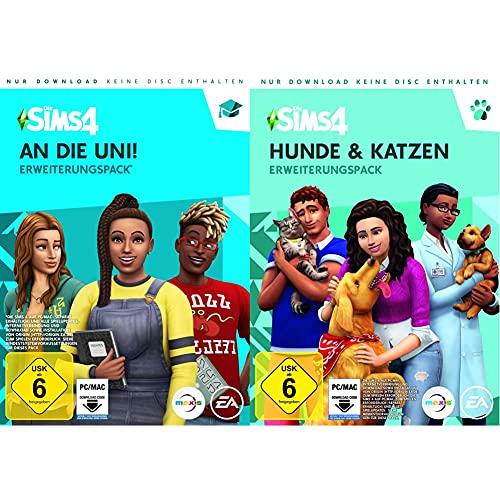 DIE SIMS 4 An die Uni Expansion Pack 8 - [PC] - [Code in a box - enthält keine CD] & Die Sims 4 - Hunde & Katzen (EP 4) [PC Code - Origin]