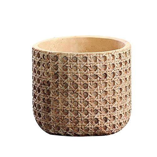XINXI-YW Conveniente 1 Pc Tiesto Tiesto Cemento Macetas Macetas Maceta rústica Planter Oficina for Bonsai Recipiente Maceta Decorativo