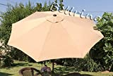 BELLRINO DECOR Replacement TAUPE ' STRONG AND THICK ' Umbrella Canopy for 9ft 8 Ribs TAUPE (Canopy...