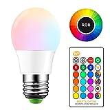 ONEVER 5W RGB Bombilla LED E27 Cambio de color atm¡§sfera de iluminaci¡§n LED Fade Mode l¡§?mpara estrobosc¡§pica flash Bar KTV luces decorativas