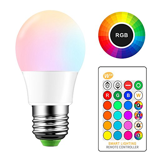 ONEVER 5W RGB LED Bulb E27 Color Changing Atmosphere Lighting LED Lamp Flash Strobe Fade Mode Bar KTV Decorative Lights (1PCS)