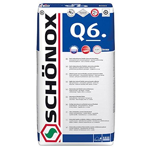 Fliesenkleber SchönoxQ6 Universal Pulverkleber | für- Dünn-, Mittel-, Dickbett,- Fließbettkleber (25 Kg)