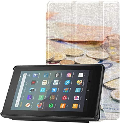 Funda Protectora Kindle Fire 7 Funda Protectora de Vidrio Tanque de Almacenamiento de Dinero para niñas Funda para Tableta Fire 7 (9a generación, versión 2019) Ligera con Reposo automático