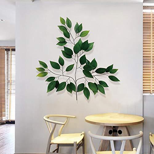 YLEI Metall Blätter Wandbehang Wanddekoration, Von Hand geschmiedet, Für Schlafzimmer, Wohnzimmer, Elegant und stilvoll, Nicht leicht zu beschädigen