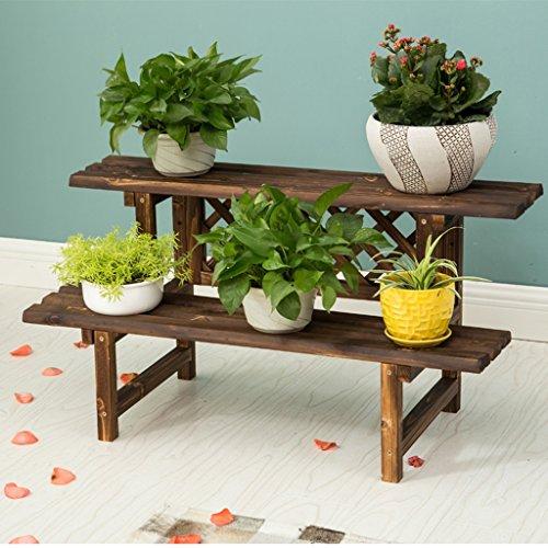 veranda planken Houten Bloemenrek, Indoor Plant Stand, Multi-Tier, Donker Bruin bloem box plantenstandaard