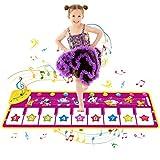 SANLINKEE Klaviermatte,100X36CM Piano Matte für Kinder mit 8 Tierstimmen Tanzmatten,8 Klaviertastatur Musik Matte Geschenke für Jungen Mädchen Kinder -