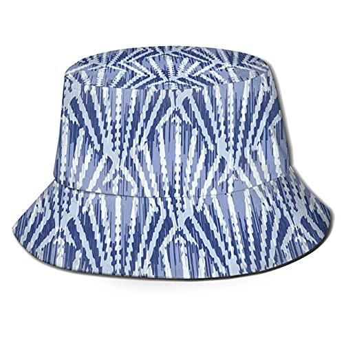 P.X.M.E. Lindo patrón de tie-dye azul blanco celosía, tracela de verano, talla única para todos, gorra de playa al aire libre