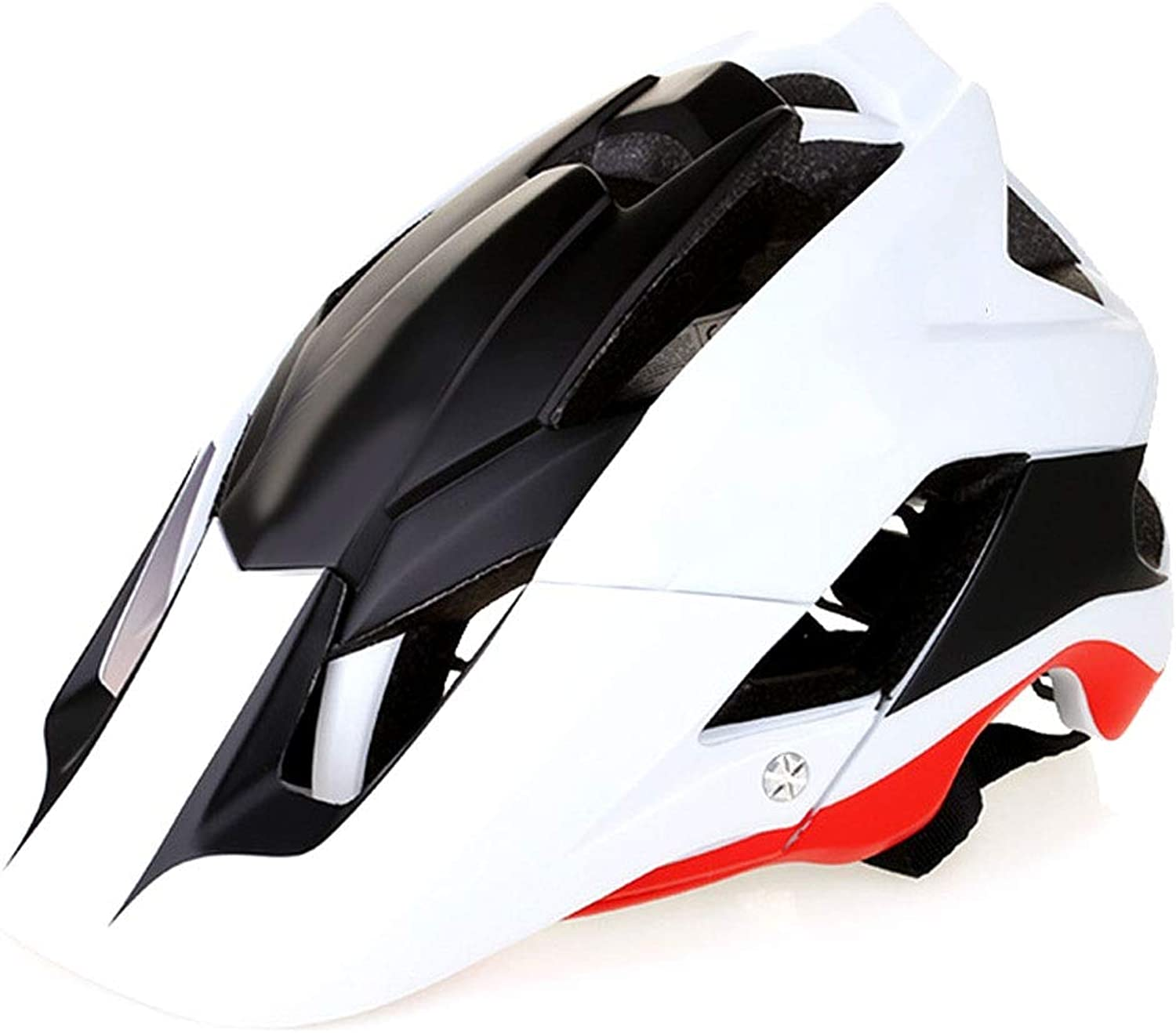 Men's Bicycle Helmet, Outdoor Fashion Sunscreen Adjustable Safety Predection Breathable Safety Helmet White