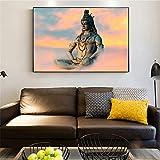 Danjiao Hindu Wall Art Leinwand Shiva Hindu Gods Poster Und
