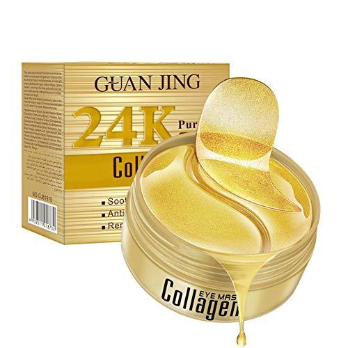 24k Gold Eye Mask, Eye Mask, Hydrogel Eye Patch, Mascarilla hidratante