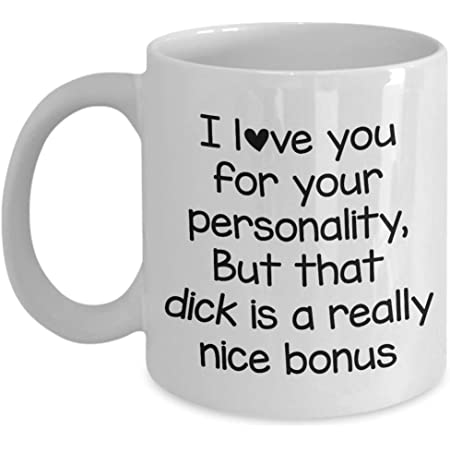 Adult gift for him Soy Candle Fathers Day Birthday Anniversary Valentines I love you for your personality that cock is a nice bonus
