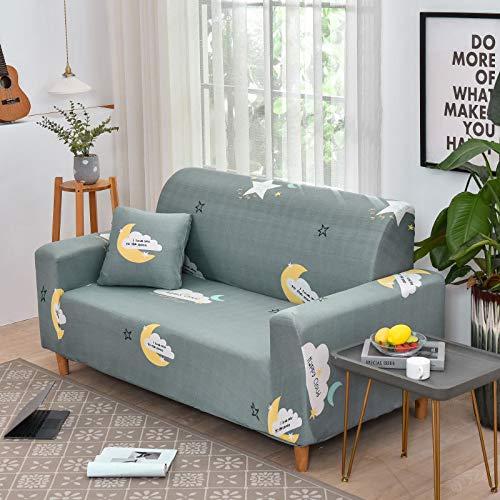 NOBCE Juego de Fundas de sofá elásticas de algodón Fundas de sofá universales para Sala de Estar, Mascotas, sillón, sofá de Esquina, Funda para sofá de Esquina 145-185CM
