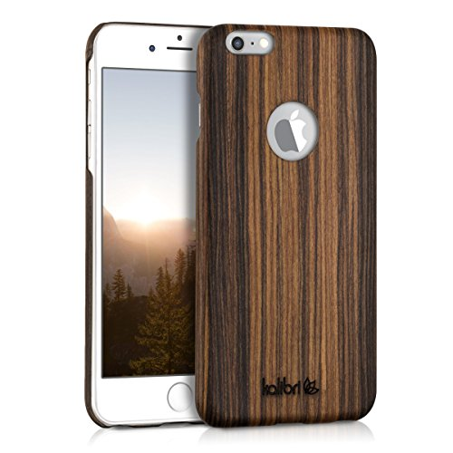 kalibri iPhone 6 Plus / 6S Plus Cover Legno - in Legno di Tiglio Naturale e aramide - Case Rigida Backcover - Custodia Protettiva Ultra Slim per Apple iPhone 6 Plus / 6S Plus