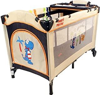 Children s bed Travel bed ARTI Medium Beige Marineblue