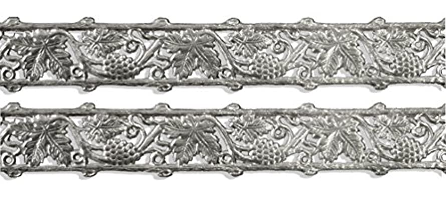 Kunze A120876012 Dresden Trim Border Grape and Leaf Strips, 5/8-Inch, Silver