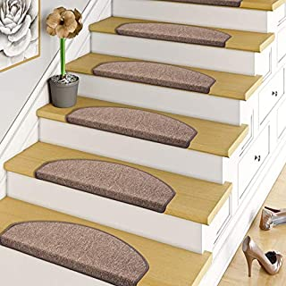 Trend Boucles Tapis Marche escalier - Simple ou par Lot de 15 Semi-Circulaire Marron Snapstyle Strong