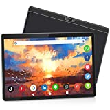 Tablet 10 Inch, Android 9.0 Pie Tablet with 32GB/128GB Expand, 3G Phone Tablets & Dual Sim Card & 2MP+ 5MP Dual Camera, Quad Core Processor, 1280x800 IPS HD Display, WiFi, Bluetooth, GPS, FM(Black)