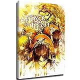 Snadkil Póster de ataque sobre titan, diseño de ataque a titan, póster artístico de ataque sobre titan, 30,48 x 45,72 cm, para decoración de pared de cocina, estirado y listo para colgar