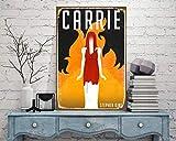 Toll2452 - Cartel de metal para Halloween, diseño de Carrie Stephen King Horror