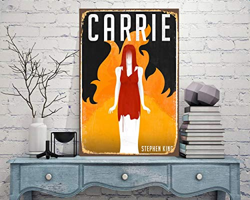 Sconosciuto Unkown Cartello in Metallo Carrie Stephen King Horror Movie Carrie su Carrie Carrie Carrie Carrie, Cartello in Metallo per Esterni
