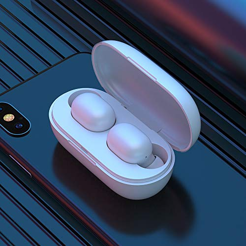 Haylou GT1 TWS Fingerprint Touch Bluetooth Earphones, HD Stereo Wireless Headphones,Noise Cancelling Gaming Headset (White)