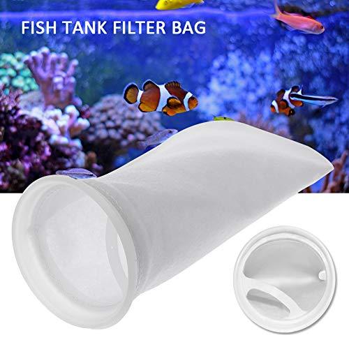 PAKASEPT 8 Stück 200 Mikron Aquarium Filz Filterbeutel Filtersocken Algenkiller Filterstrumpf für Süßwasser,Salzwasseraquarien,Teiche,Sümpfe Überläufe